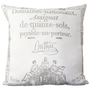 Surya LG-508 Hand Crafted 100% Cotton Pewter 18' x 18' Graphic Novelty Decorative Pillow [並行輸入品]