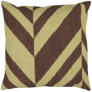 Surya FA-031 Machine Made 80% Wool / 20% Cotton Lima Bean 18' x 18' Decorative Pillow [並行輸入品]