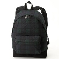 【17AW】PIQUE BLACKWATCH PRINT BACKPACK/フレッドペリー(雑貨)(FRED PERRY)