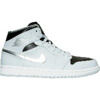 ナイキ メンズ バスケットボール スポーツ Men's Air Jordan Retro 1 Mid Retro Basketball Shoes Pure Platinum/White...