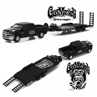 "GREENLIGHT 1:64SCALE HITCH&TOW SERIES8 ""2016 RAM 2500 AND HEAVY DUTY CAR HAULER""(GAS MONKEY GARAGE)..."