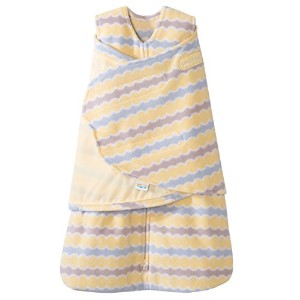 HALO SleepSack Micro-Fleece Swaddle, Yellow Waves, Newborn by Halo