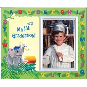 My First Graduation - Elephants Back to School Picture Frame Gift by Expressly Yours! Photo...