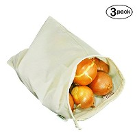 Simple Ecology Organic Cotton Muslin Produce Bag - Large by Simple Ecology