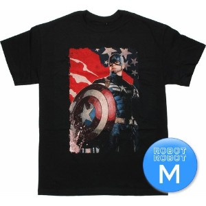 M マーベル キャプテン・アメリカ ウィンターソルジャーTee / MARVEL Captain America Winter Soldier Patriotic T Shirt アメコミ...