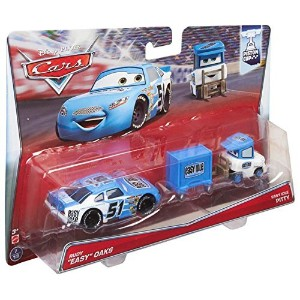 """MATTEL Disney-PIXAR """"CARS"""" PISTON CUP """"RUBY EASY OAKS NO.51 & EASY IDLE PITTY"""" 2PACK マテル ディズニー/ピクサー..."""