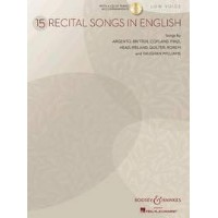 Partition classique BOOSEY & HAWKES 15 RECITAL SONGS IN ENGLISH + CD Choeur et ensemble vocal