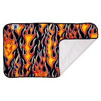 Planet Wise Designer Waterproof Diaper Pad, Flame by Planet Wise