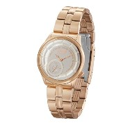 Edwin VINTAGED Women's Dual Time Watch, Stainless Steel Case with Stainless Steel Band