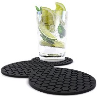 Amazing Quality Drink Coaster Set (8pc), Sleek Modern Design. Prevents Furniture Damage, Absorbs...