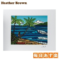 Heather Brown ヘザーブラウン Open Edition Matted Art Prints アートプリント Wahine He'e Nalu ワヒネ ヘェ ナル HB9146P ハワイ...