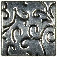 Jewelry Basics Metal Beads 15mm 5/Pkg-Silver Deco Square (並行輸入品)