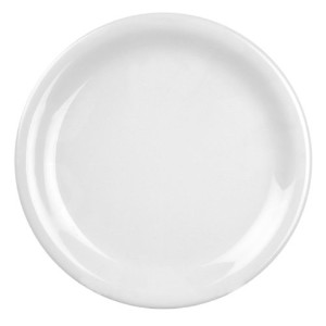 Excellant? White Melamine Collection 10-1/2-Inch Narrow Rim Round Plate, White, 12-Piece [並行輸入品]