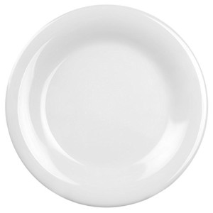 Excellant? White Melamine Collection 7-1/2-Inch Wide Rim Round Plate, White, 12-Piece [並行輸入品]