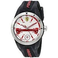 フェラーリ Ferrari Men's 0830250 REDREV T Analog Display Quartz Black Watch [並行輸入品]
