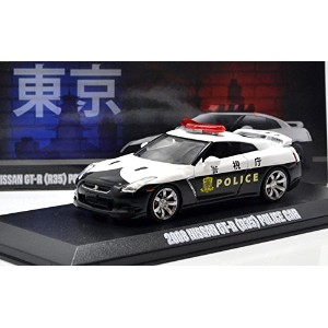 """GREENLIGHT 1:43SCALE MIJO EXCLUSIVES - 2015 NISSAN GT-R (R35) POLICE CAR"""" グリーンライト Mijo toys限定 1..."""