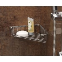 Chrome Plated Shower Corner Soap Tray