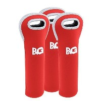 PAG Neoprene Wine Bag 1 Bottle Wine Tote for Champagne, Wine and Beer Bottles ,Red by PAG