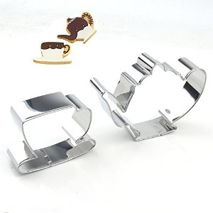 GXHUANG Tea Pot & Cup Cookie Cutter Set - Stainless Steel (Pot and Cup),for Anniversary Birthday...