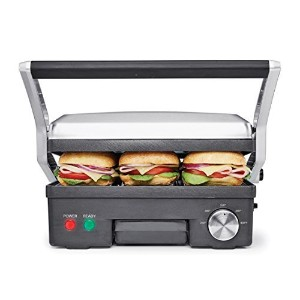 BELLA 14464 4-in-1 Contact Grill Griddle and Panini Press, Stainless Steel/Black [並行輸入品]
