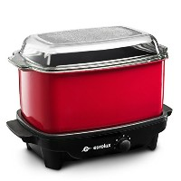 6Quart Slow Cooker and Griddle レッド COMINHKG122598