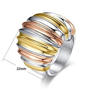 Stainless Steel Engagement Ring For Women