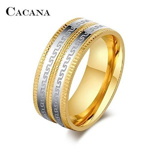 New Gold Stainless Steel Rings For Women