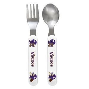 Baby Fanatic Fork and Spoon Set, Minnesota Vikings by Baby Fanatic
