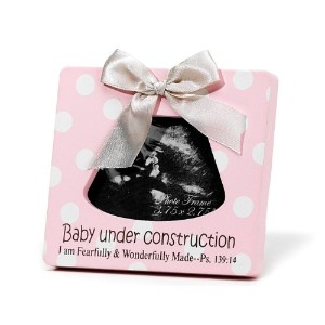 Dicksons Baby Under Construction Photo Frame, Pink by Dicksons