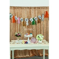 B-COOL Rose Gold Wedding backdrop Party backdrop 8ft x 8ft by B-COOL