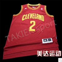 NBA Rev30 new fabric on the 2nd rookie champion Cavaliers jersey basketball clothes red text