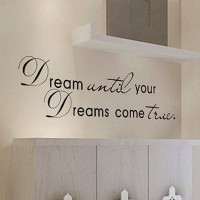 [アメリカ直送]MZY LLC (TM) Dream Until Your Dreams Come True Wall Famous PVC Wall Sticker Decal Quote Art...