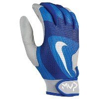 ナイキ メンズ 野球 グローブ【Nike MVP Edge Batting Gloves】Light Photo Blue/Silver/Game Royal