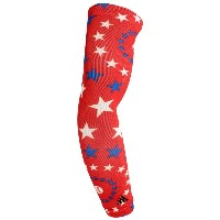 アディダス メンズ 野球【adidas MLB Graphic Compression Arm Sleeve】Stars Red