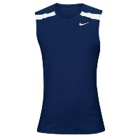 ナイキ メンズ 陸上 トップス【Nike Team Power Stock Race Day Tank】Navy/White