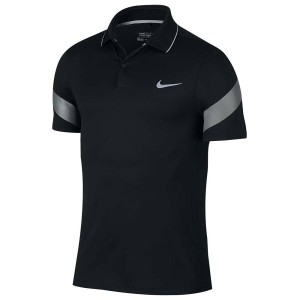 ナイキ メンズ トップス ポロシャツ【Nike Major Moment Fly Framing Golf Polo】Black/Wolf Grey/Reflective Silver