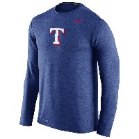 ナイキ メンズ Tシャツ トップス Men's Nike MLB Dri-FIT Touch Logo L/S T-Shirt Royal