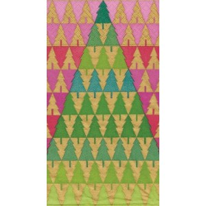 Entertaining with Caspariカクテルナプキン、Zig Zag Trees Guest Towels