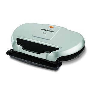 George Foreman GR144 144-Square-Inch Nonstick Family-Size Grill, Silver [並行輸入品]