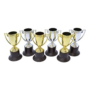 Winner Trophies with Stickers (Pack of 6) (General Jokes) - Unisex - One Size