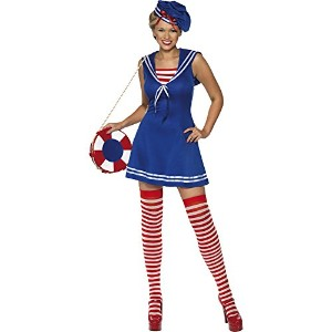 Smiffys Women's Blue/Red/White Sailor Cutie Costume - Us Dress 10-12