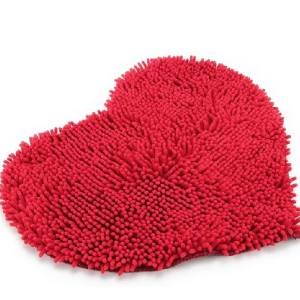 Red Heart Love microfiber chenille Soft Fluffy Rug Bathroom Bedroom Carpet Mat by zjskin