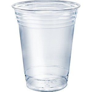 A World of Deals ®クリアプラスチックカップ Pack of 50 Cups PET-1650