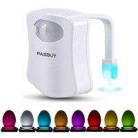 PASBUY p13Motion Activatedトイレ夜ライト8LEDトイレシートの色変更ライト