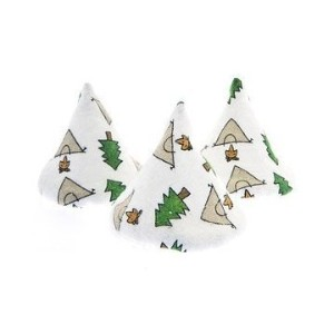 (1) Package of White Camping Pee Pee Tee Pees in Laundry Bag (Set of 5) by Pee-pee Teepee