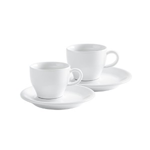 KAHLA Cafe Sommelier Cappuccino Italiano, White Color, Set of 4 Pieces by KAHLA - PORCELAIN FOR THE...