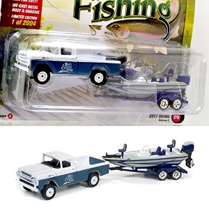 "JOHNNY LIGHTNING 1:64SCALE ""GONE FISHING 2017 RELEASE 2 "" ""1959 Ford F-250 w/Boat & Trailer(Surf..."