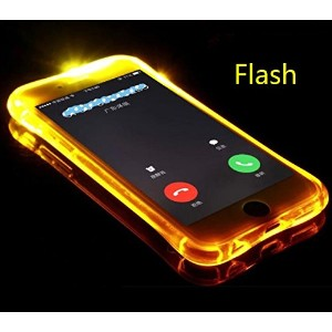 Galaxy 2016 J7 ケース, Cool Flashing Light UP To Remind Incoming Call Slim カバー by Phone's LED...