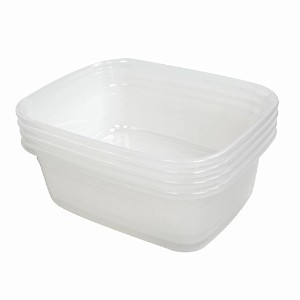 "ramddyクリア14 Quart Dish Pans、rectangular-shape、15.16 "" by 12 "" by 5.7インチ、4のセット"