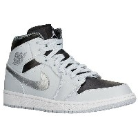 ジョーダン メンズ バスケットボール スポーツ Men's Jordan AJ1 Mid Pure Platinum/White/Metallic Silver/Black